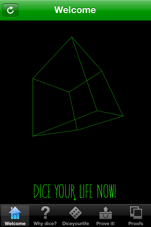 Dice your life app