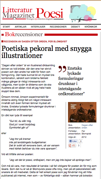 Litteraturmagazinet recenserar